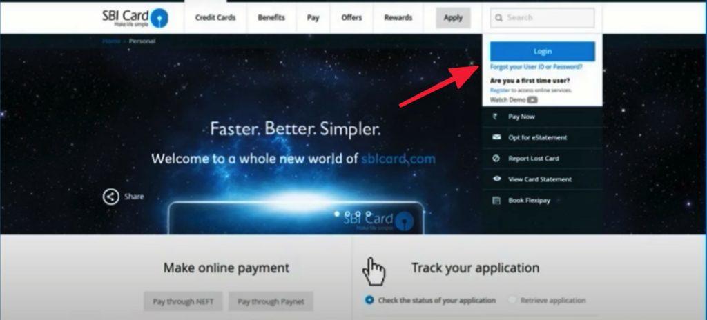 SBI Credit Card Activation Login