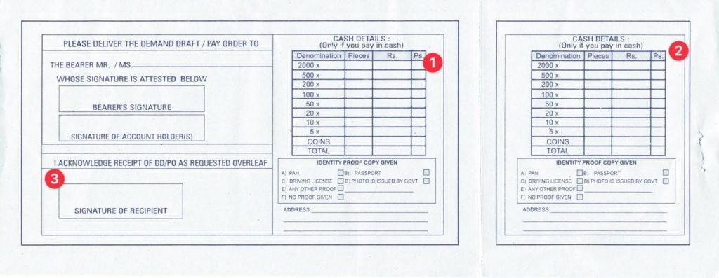 How to fill Back Side Of SBI Bank Deposit Slip