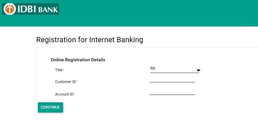 Idbi Registration For Internet Banking