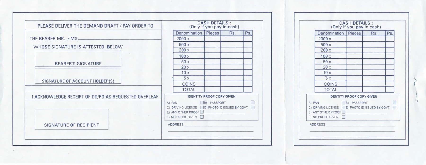 Sbi Bank Deposit Slip Download
