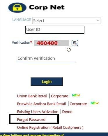 Corporate Bank Forgot Password