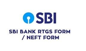 Sbi Rtgs/Neft Application Form 2021