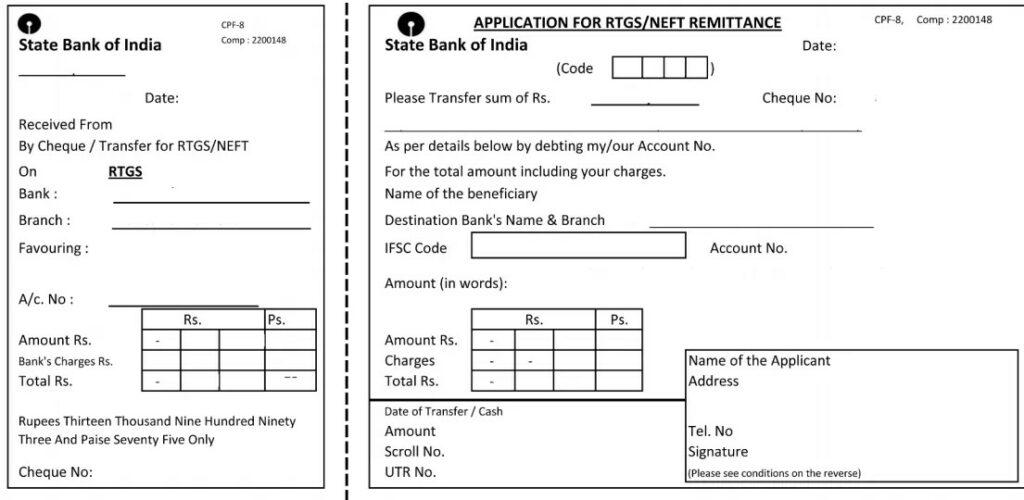Download Sbi Rtgs/Neft Form Online (2021)
