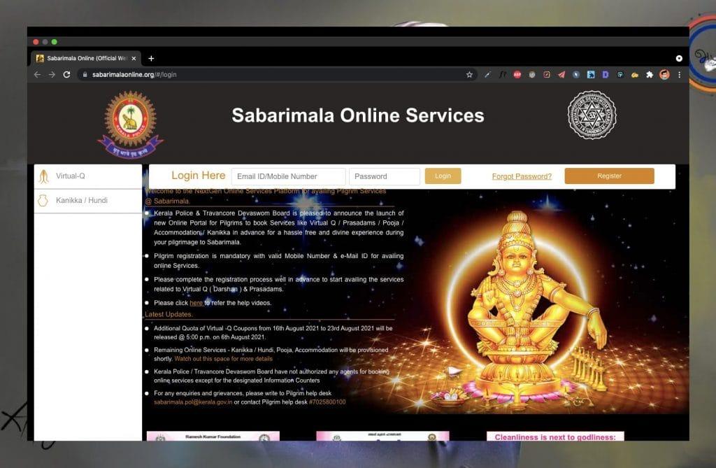 How To Book Sabarimala Darshan Tickets Online