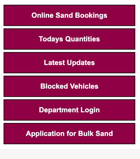Book Online Sand At Ssmms Portal Process