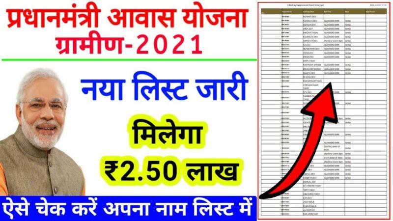 Check Pradhan Mantri Awas Yojana Gramin List 2020-2021(Pmay-G)