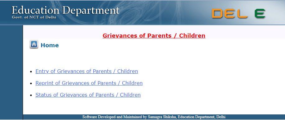 Lodge Grievance Of Parents/Children