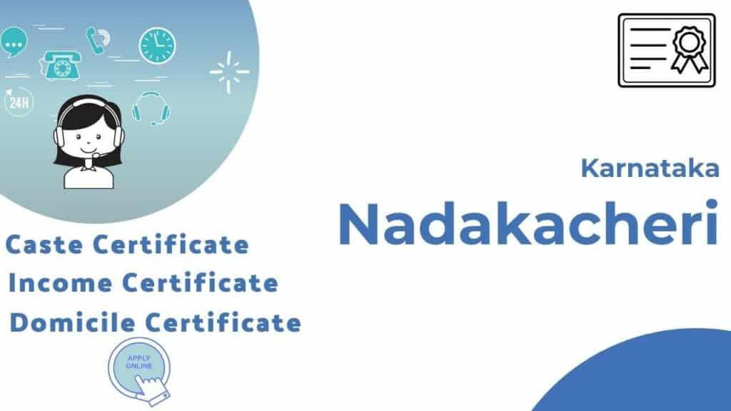 Nadakacheri Residence Certificate Application Procedure