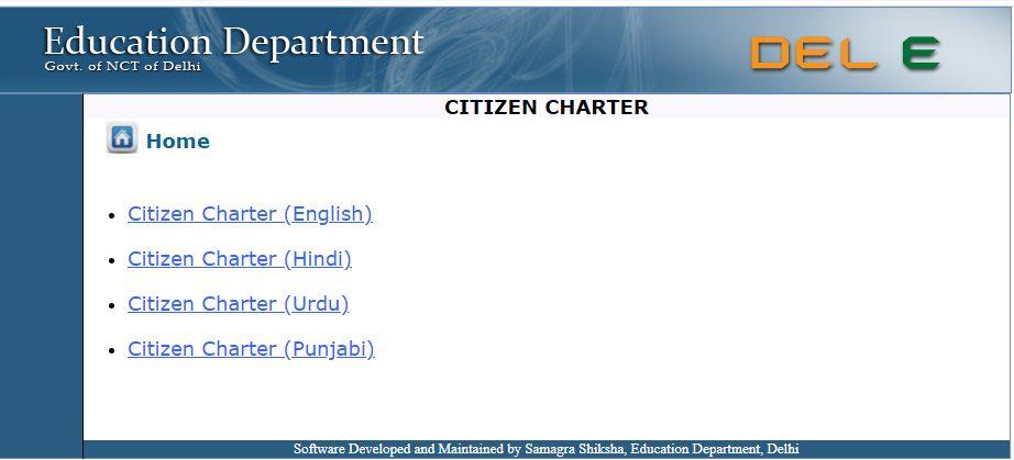 Procedure To View Citizen Charter