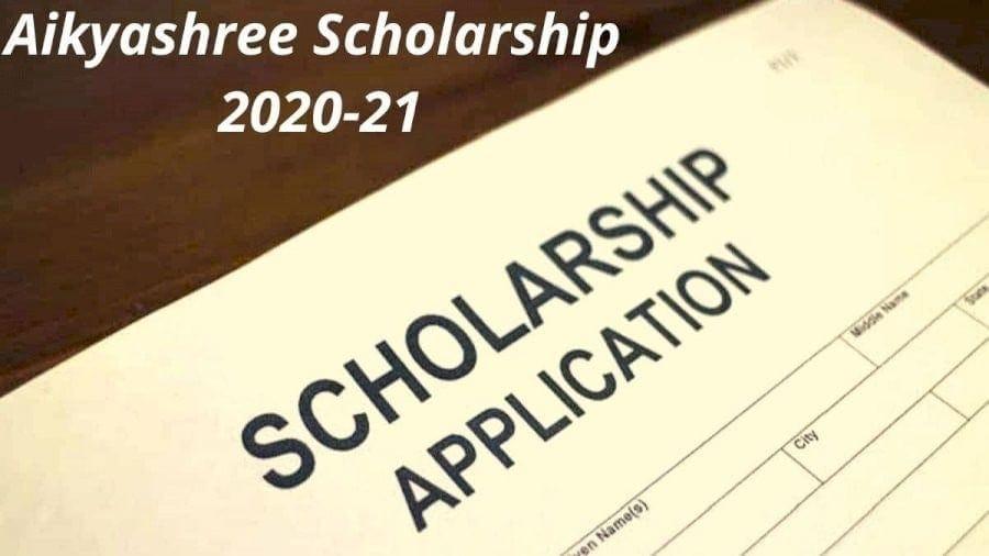 Aikyashree Scholarship Online 2020-21