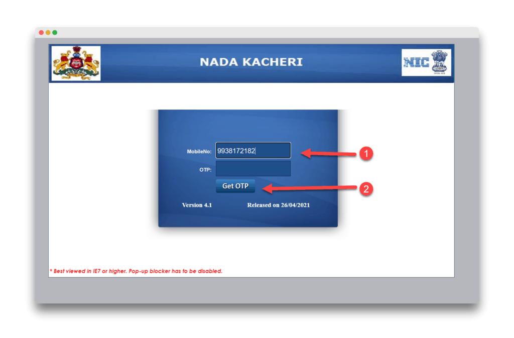 Nadakacheri Caste Certificate Online Application Process