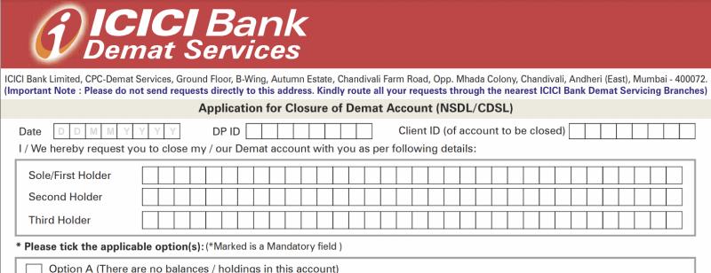 Close Icici Bank Account Online