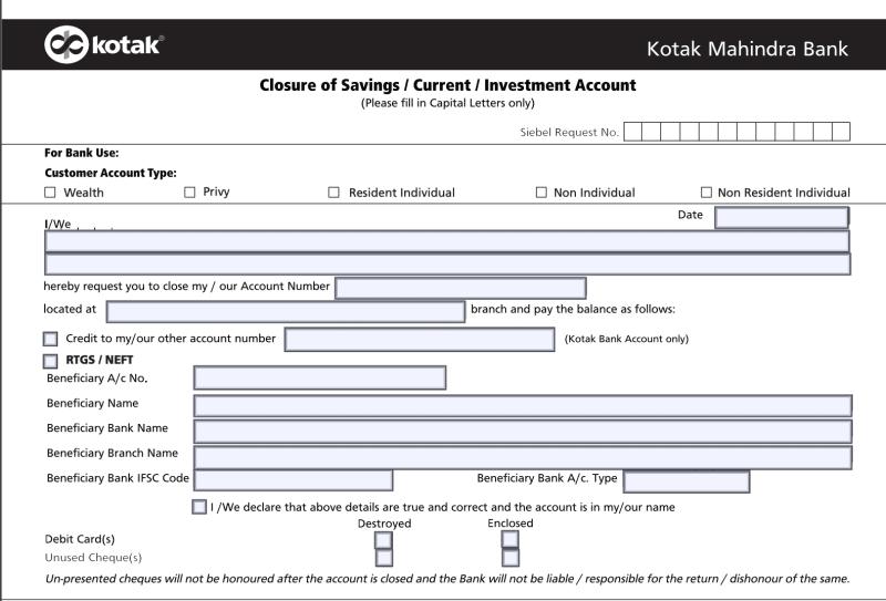 How To Close Kotak Mahindra Bank Account Online