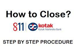 The Process To Close Kotak Mahindra Bank Account.