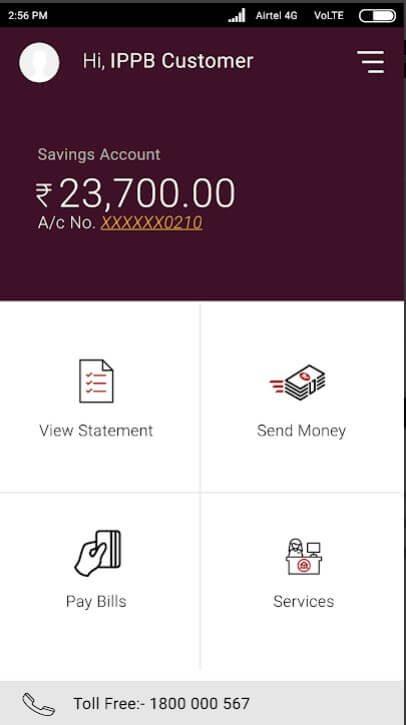 Steps To Post Office Savings Account Balance Check Via Ippb Mobile App.